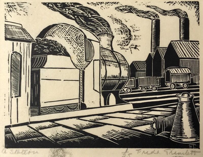 Freda Tremlett ()A Station, c. 1925