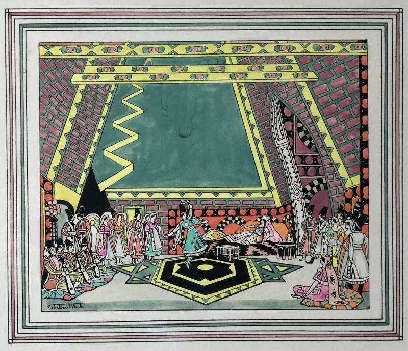 Ethelbert White (1891-1972)A Scene from Mikhail Fokine's ballet Thamar (Ballets Russes), c. 1919