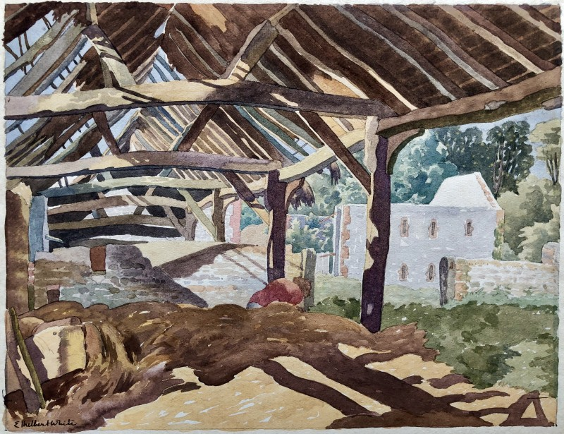 Ethelbert White, Betty in the Old Hay Barn, c. 1930