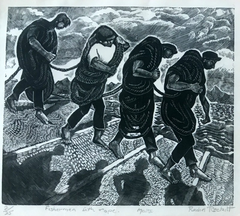 Rachel Reckitt (1908-1995)Fishermen with Rope