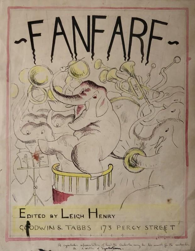 Rupert Lee (1887-1959)Fanfare (Original Cover Design), 1920