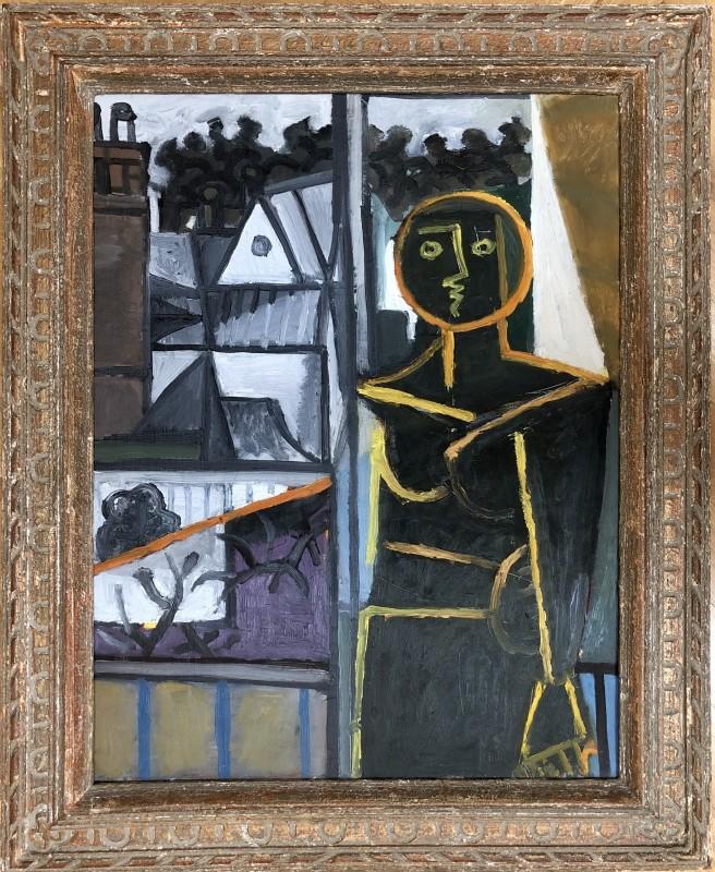 Carlos Carnero (1922-1980)Femme en contre-jour, 1955