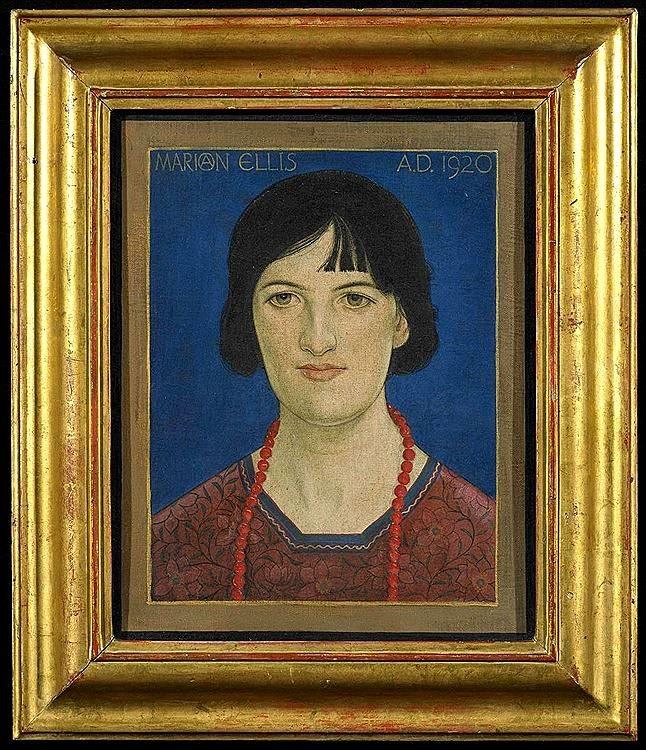 Francis Ernest Jackson (1872-1945)Portrait of Marian Ellis, 1920