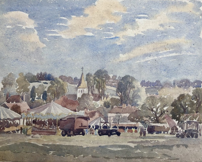Ethelbert White, A Sussex Country Fair, c. 1930s