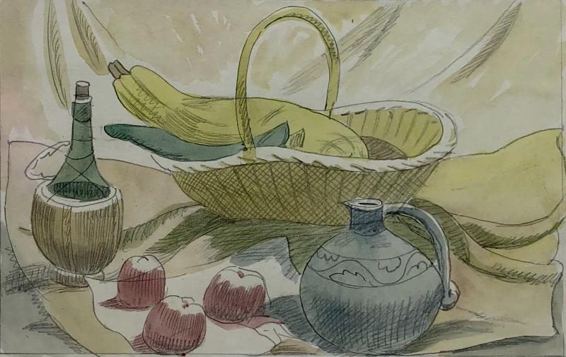 Doris Hatt, Still Life with Bottle, Jug and Apples, c. 1940s