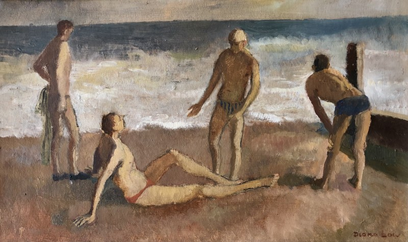 Diana Low (1911-1975)Bathers at Rye, 1948