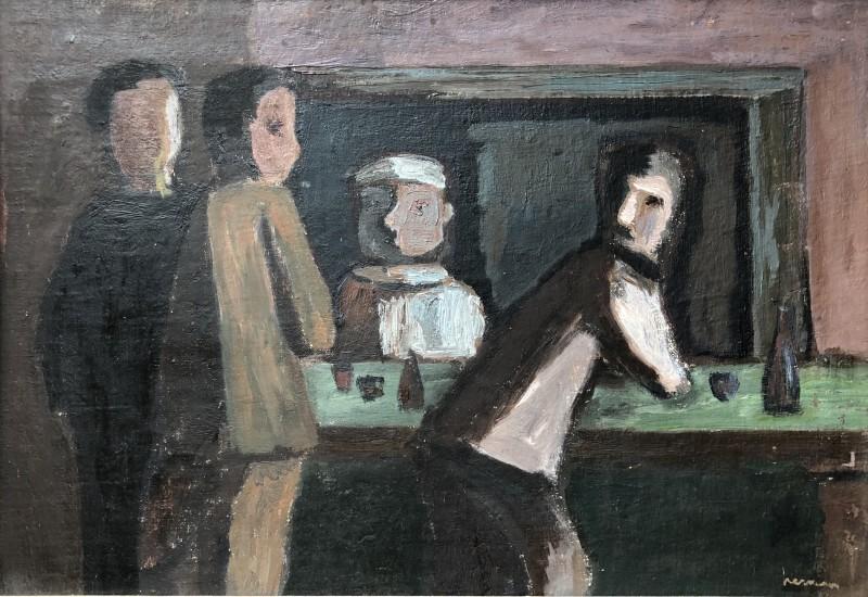 Hubert Hennes (1907-1986)The Bar, c. 1955