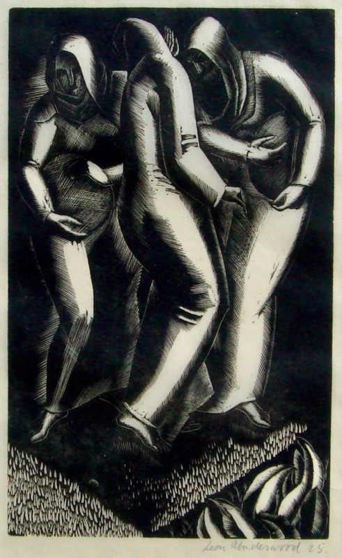 Leon Underwood (1890-1975)Three Peasants, 1925