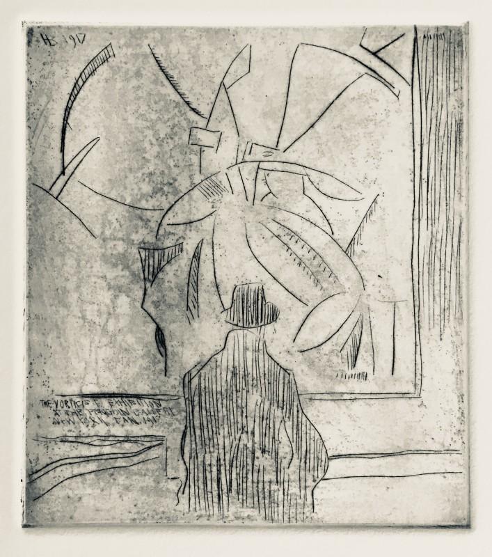 Horace Brodzky (1885-1969)Viewing Wyndham Lewis's Kermesse, 1917