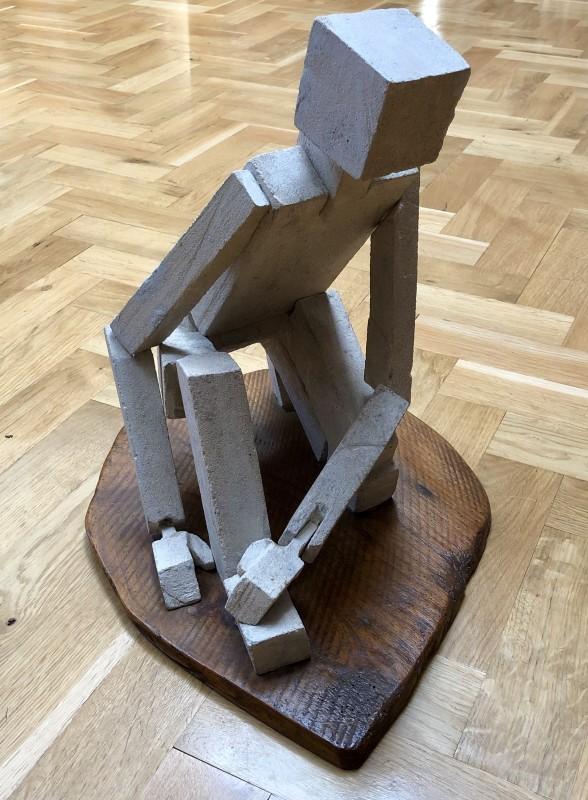 Rachel Reckitt (1908-1995)Kneeling Cubist Figure, c. 1960s