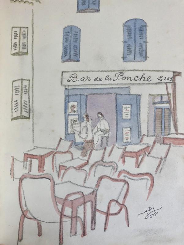 Doris Hatt (1890-1969)Bar de la Ponche, St. Tropez, 1950