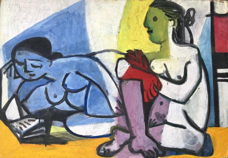 Carlos Carnero (1922-1980)Deux nus, 1955