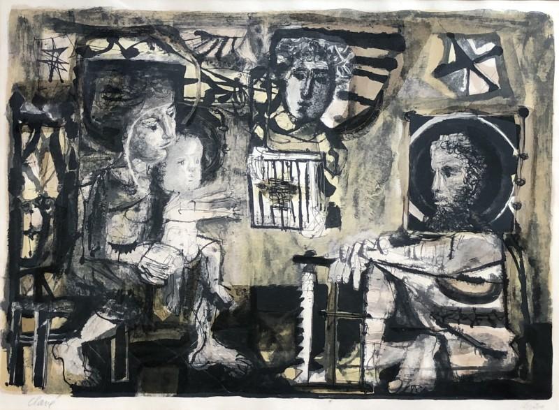Antoni Clavé (1913-2005)La Sainte Famille, 1951