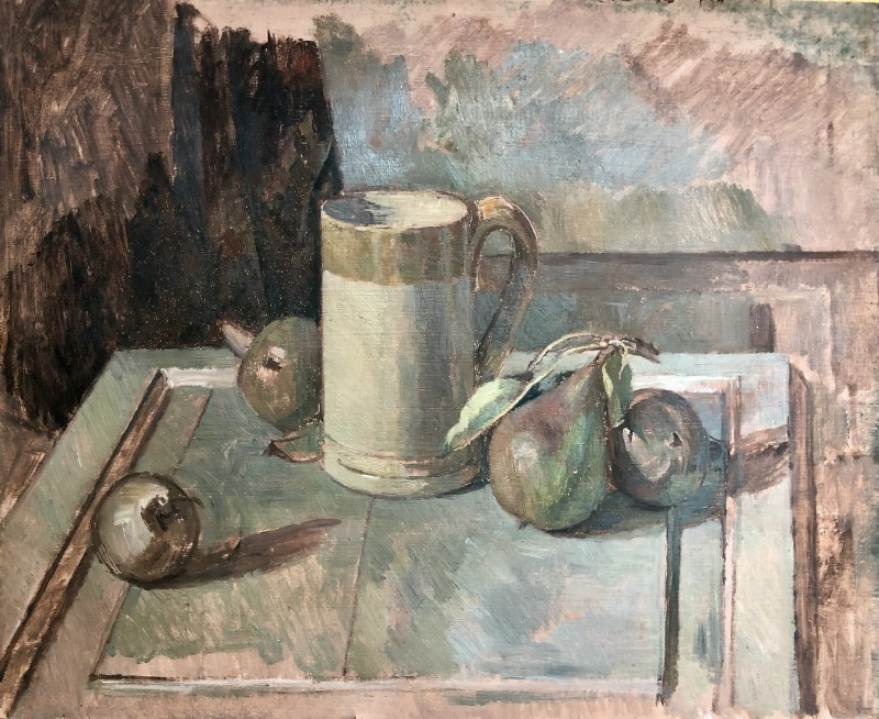 Percy Horton (1897-1970)Still Life with Apples and Beer Mug, c. 1930s