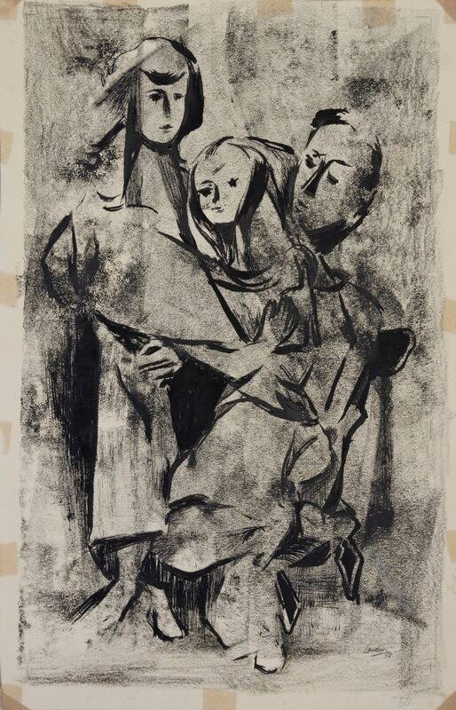 Kenneth Lauder (1916-2004)Family Group, 1948