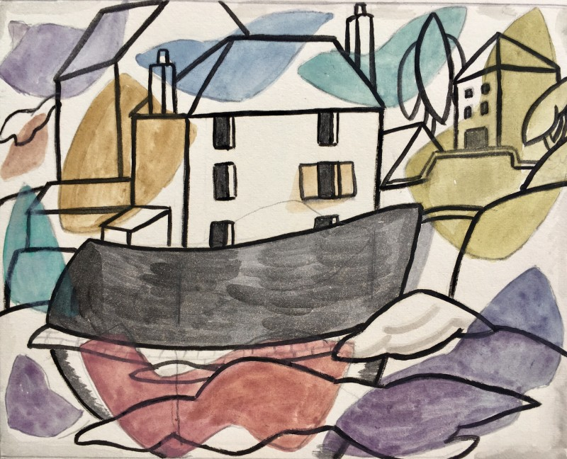 Doris Hatt (1890-1969)Bay Cottage, Lyme Regis (Counterpoint), c. 1960's