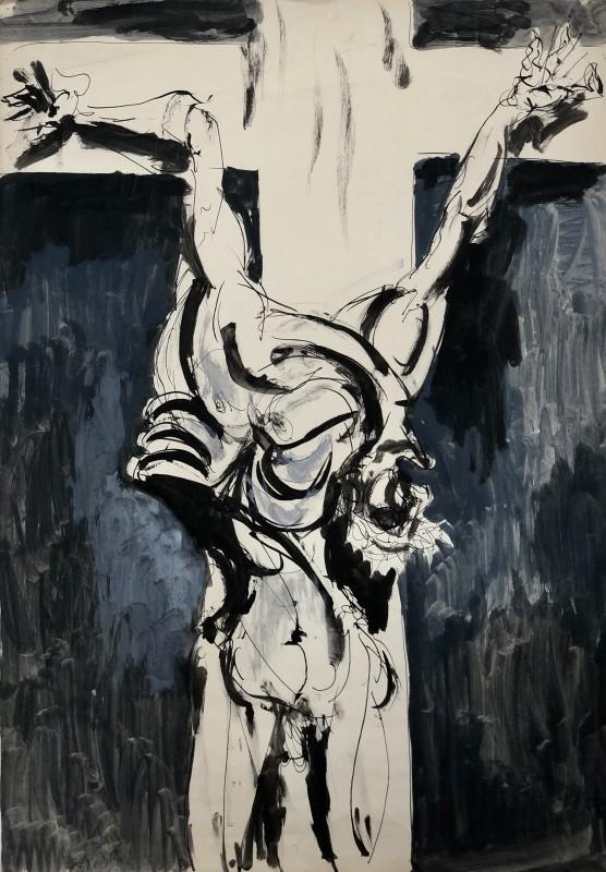 Glyn Morgan (1926-2015)Crucifixion, 1950