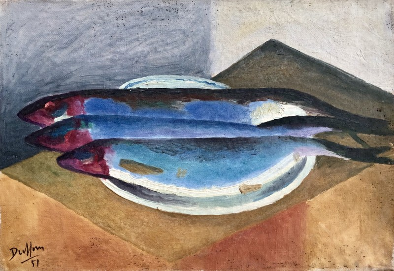 Jacques André Duffour, Still Life with Fish, 1951