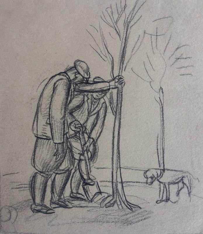 Stanley Lewis (1905-2009)Tree Planting, c. 1930s