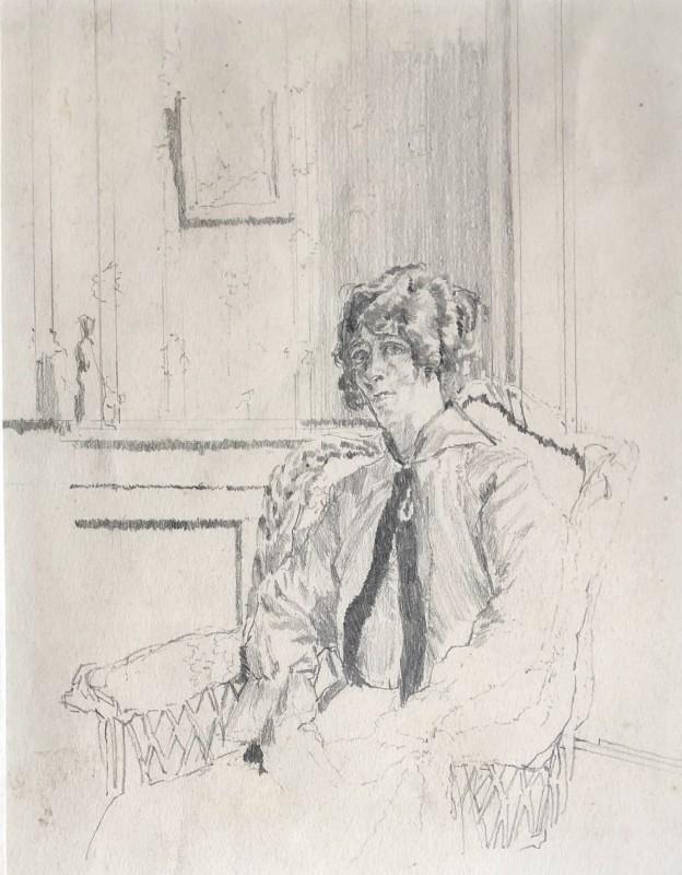 Walter Sickert, World War I Nurse, c. 1914