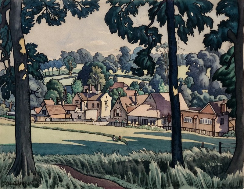 Ethelbert White (1891-1972)Summer Landscape, Sussex, 1925