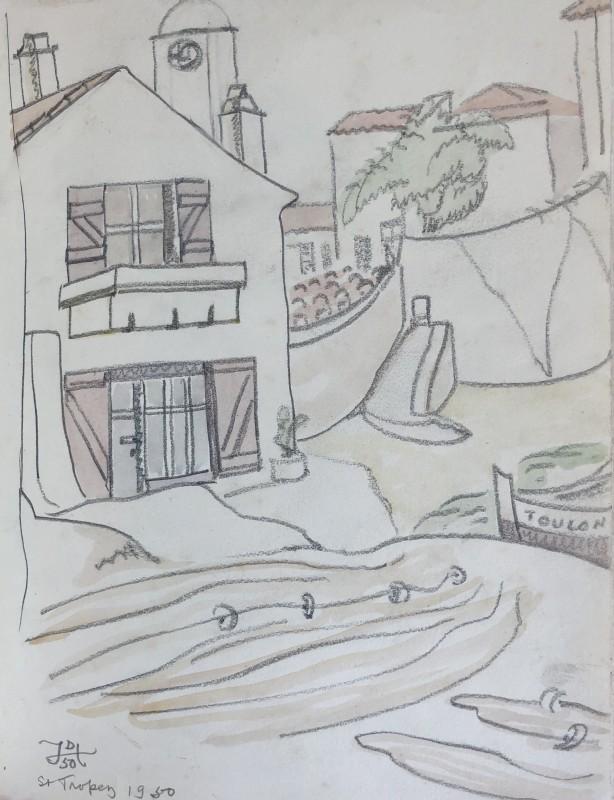 Doris Hatt (1890-1969)Harbourside, St. Tropez, 1950