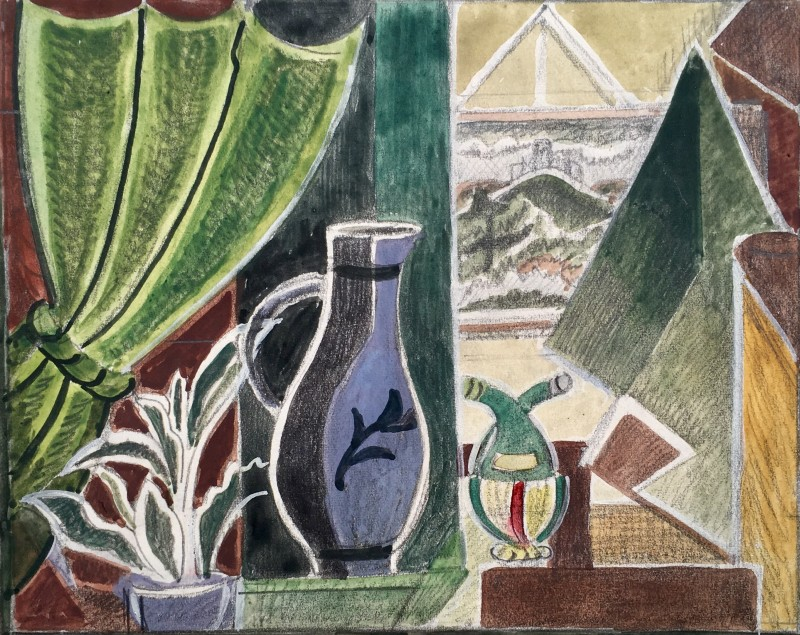 Doris Hatt (1890-1969)Still Life with Jug, Clevedon, 1940's