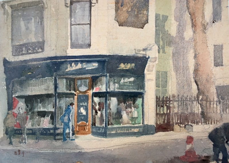 Percy Hague Jowett (1882-1955)The Old Curiosity Shop, Clerkenwell, 1920's