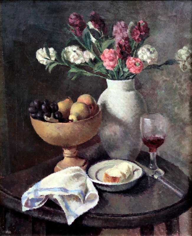 Dorothy Hepworth (1898-1978)Still Life of Pinks in Roger Fry's White Vase, c. 1930