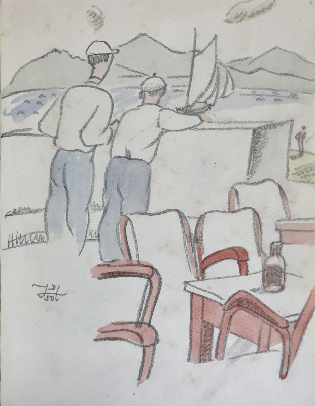 Doris Hatt (1890-1969)Sailors, St. Tropez, 1950