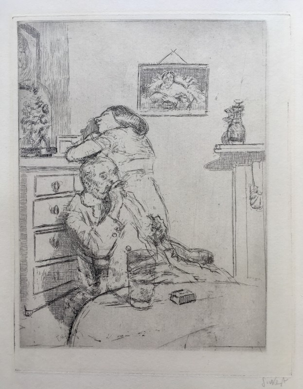 Walter Sickert, Ennui (The Medium Plate) Fourth state , 1914/15