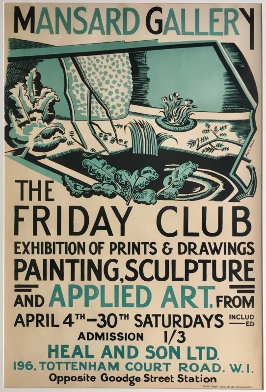 Paul Nash (1889-1946)The Friday Club Poster, c. 1919