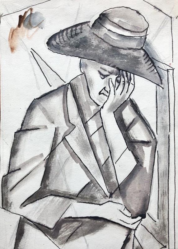 Marie Marevna (1892-1984)Study of Woman, Cagnes-sur-Mer, 1942