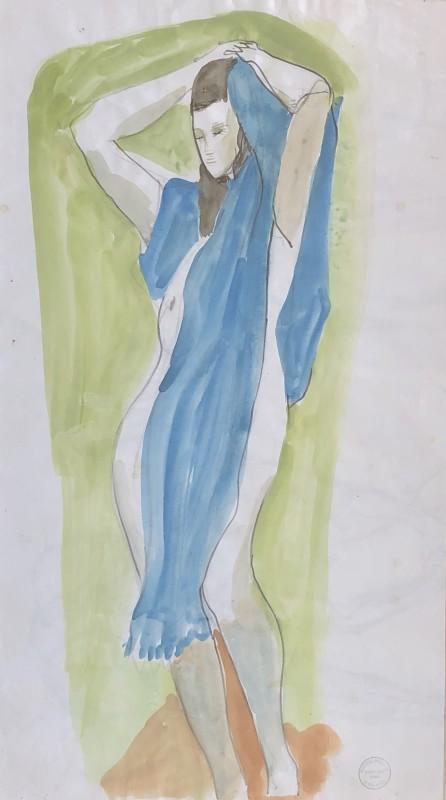 Rachel Reckitt (1908-1995)The Blue Shawl, c. 1950s