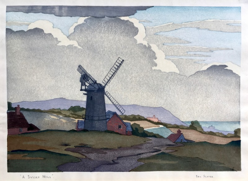 ERIC SLATER A Sussex Mill, c. 1930s