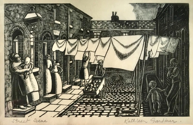 Kathleen Gardiner Street Scene, c. 1930s