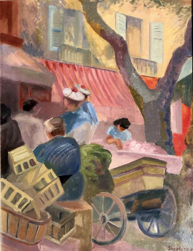 Marjorie Sherlock (1897-1973)Toulon Market
