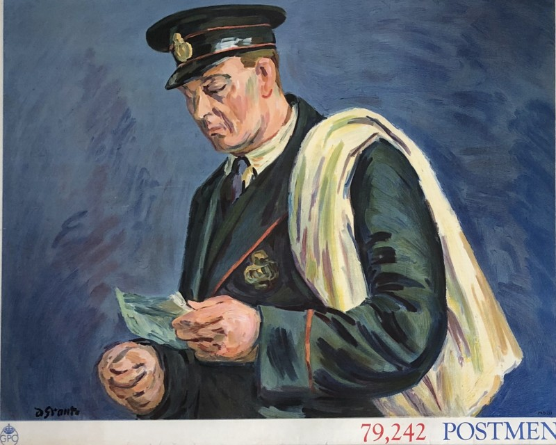 Duncan Grant (1885-1978)Postmen; Poster I (Set of Four), 1939