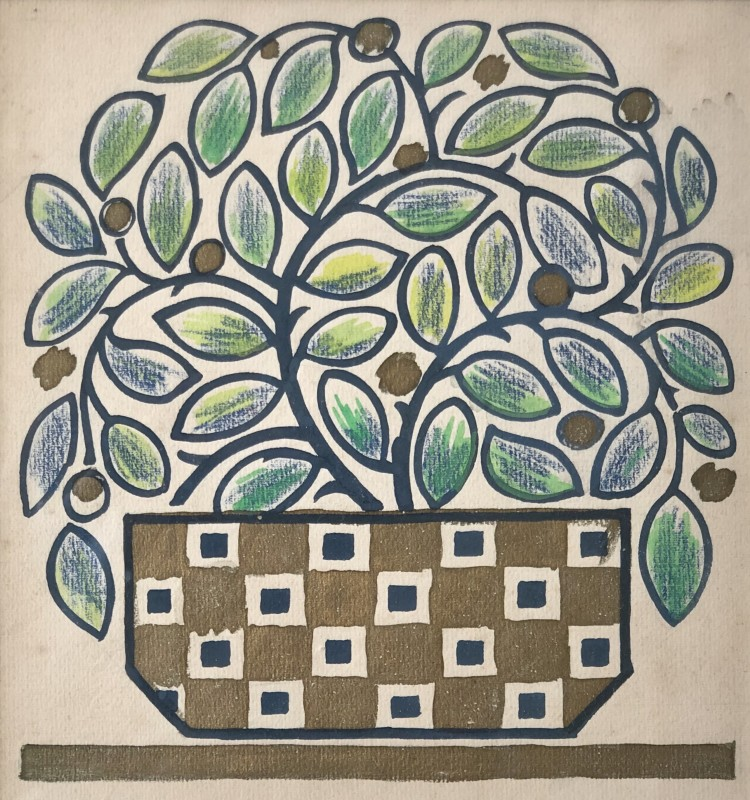 Nicolas Sorokine (b. 1892)Flower Design II, c. 1920