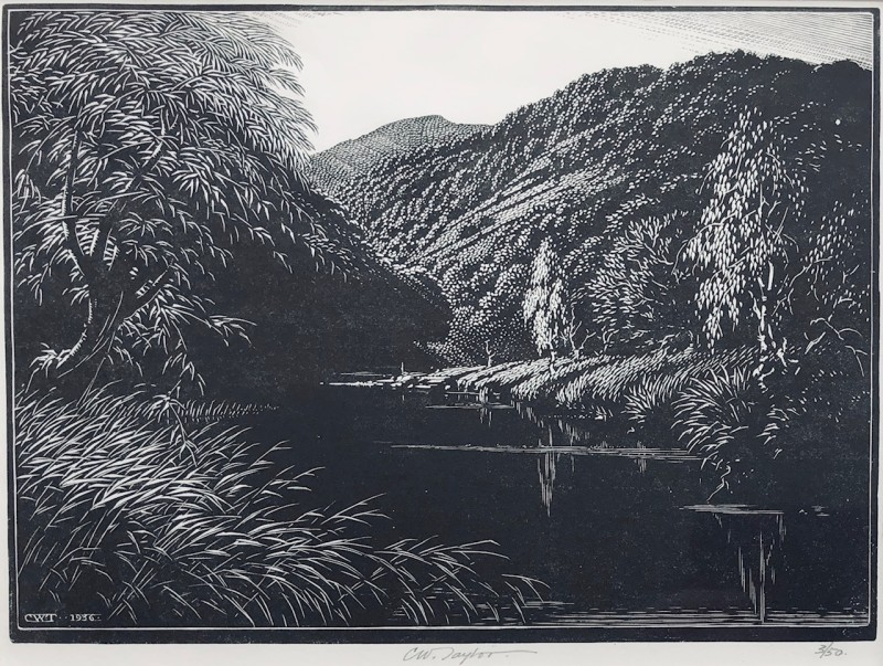 Charles William Taylor Lake Landscape, c. 1930's