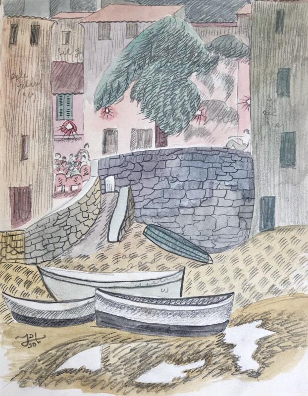 Doris Hatt (1890-1969)Boats, St. Tropez, 1950