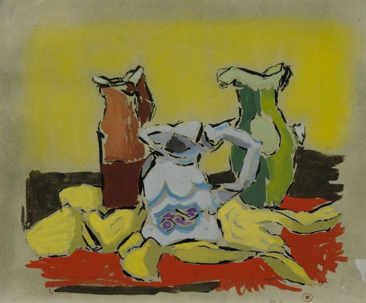 Kenneth Lauder (1916-2004)Three Jugs, 1951