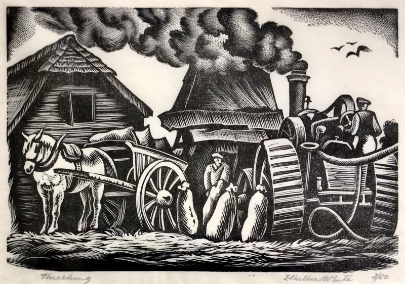 Ethelbert White, Threshing, 1938