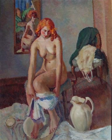 Dorothy Hepworth, Nude with Red Hair and Self Portrait, c. 1935