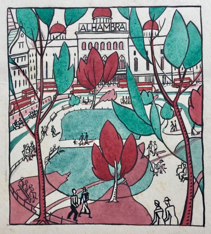 Doris Hatt (1890-1969)Leicester Square, 1920's