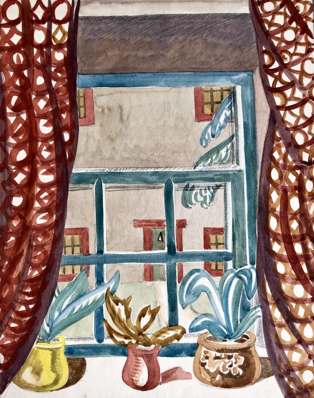 Doris Hatt (1890-1969)Still Life with Window, 1930's