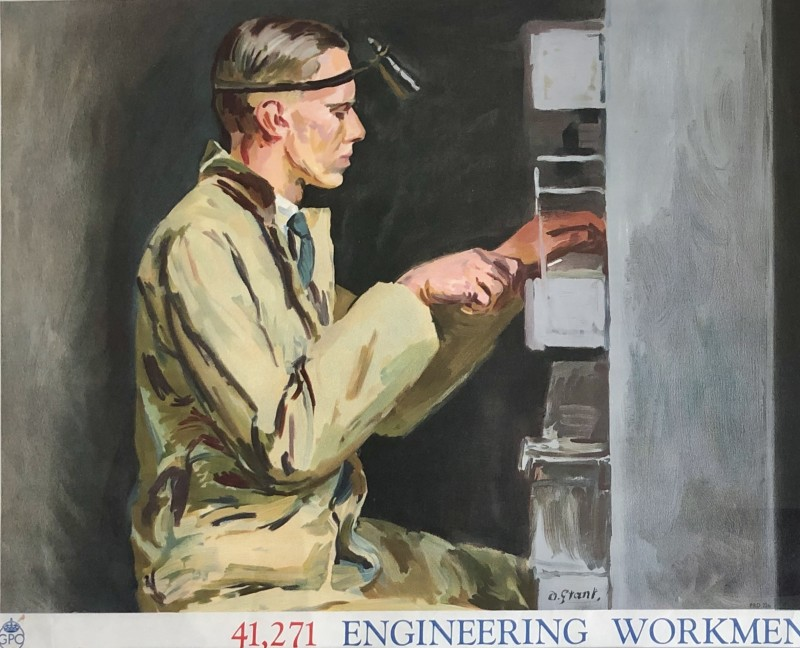Duncan Grant, Engineering Workmen; Poster II (Set of Four), 1939