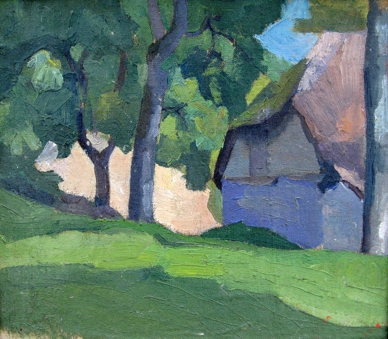 Robert Bevan, Study of Dunn's Cottage, c. 1913