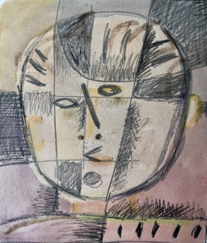 Carlos Carnero (1922-1980)Grand visage, c. 1956