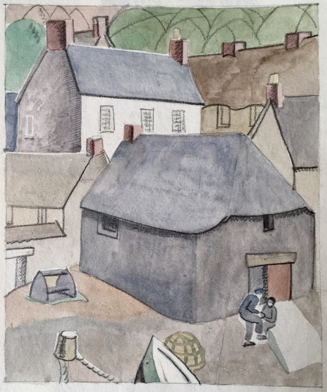 Doris Hatt (1890-1969)Harbour Village, South Devon, 1948